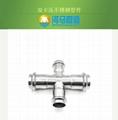 河马304不锈钢水管卡压式水管异径四通双卡压水管配件 2