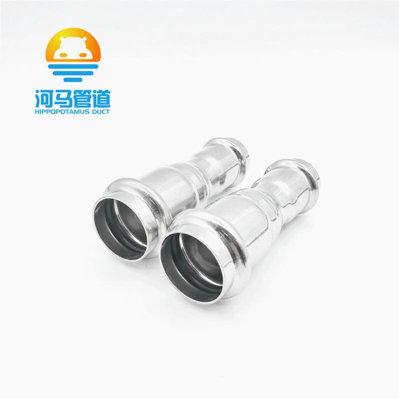 304薄壁不锈钢水管配件双卡压式c大小头异径直通给排水管道 2