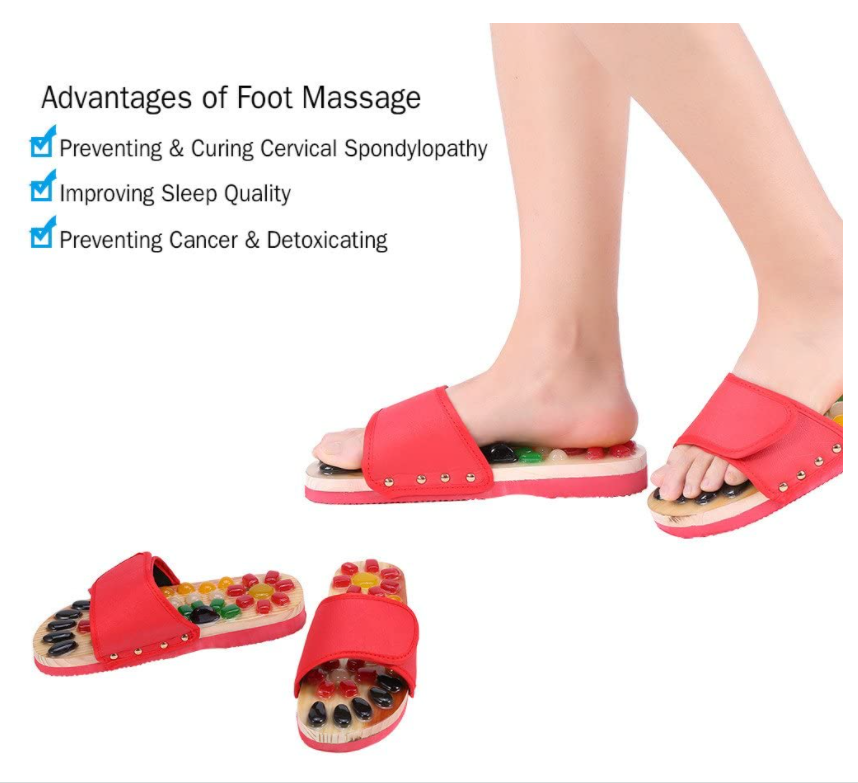 Stone Foot Massage Shoes Sandals Slippers 5