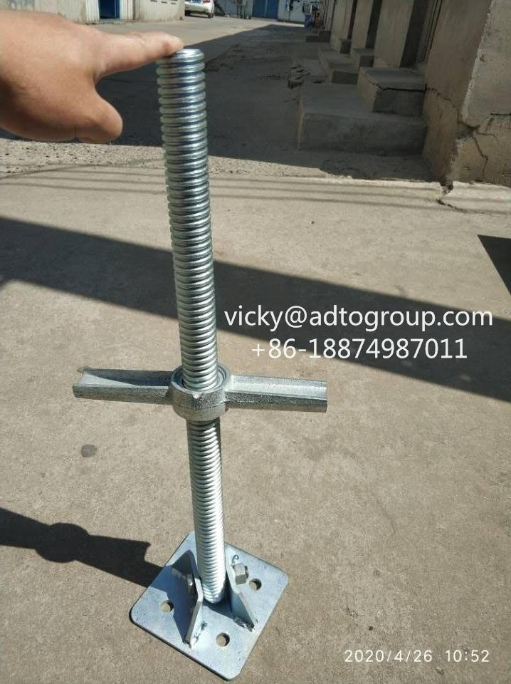 "24"" Screw Jack #Swivel Screw Jack#Socket Jacket #Base Plate#Scaffold Jack 2"