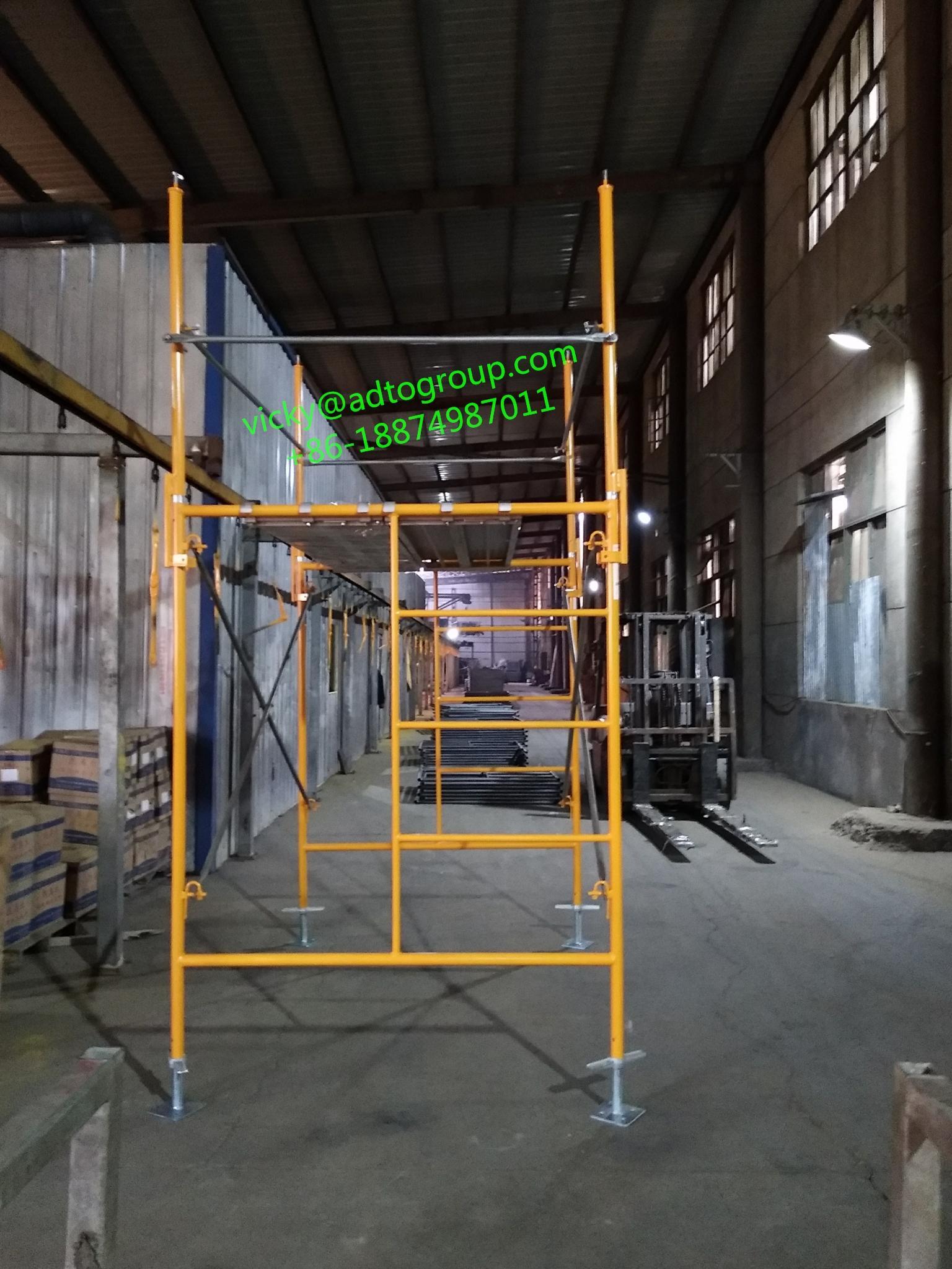 "42"" guardrail post guardrail post with kicker guardrail frame scaffold frame sca 4"