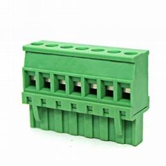 插拔式接线端子PCB接线端子侧面进直立式插座连接器 2EDGKA-5.08mm
