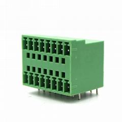 15EDGRH-3.5mm double-layer plug-in terminal block socket bending plate 2EDGRH