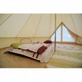 5m Canvas Bell Tent With Double Door  5m