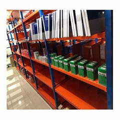 Warehouse long span shelf with ga  anized panel and wire mesh decking