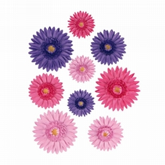 EASY WAY TO MAKE PAPER FLOWER WALL DÉCOR GERBERA FLOWERS