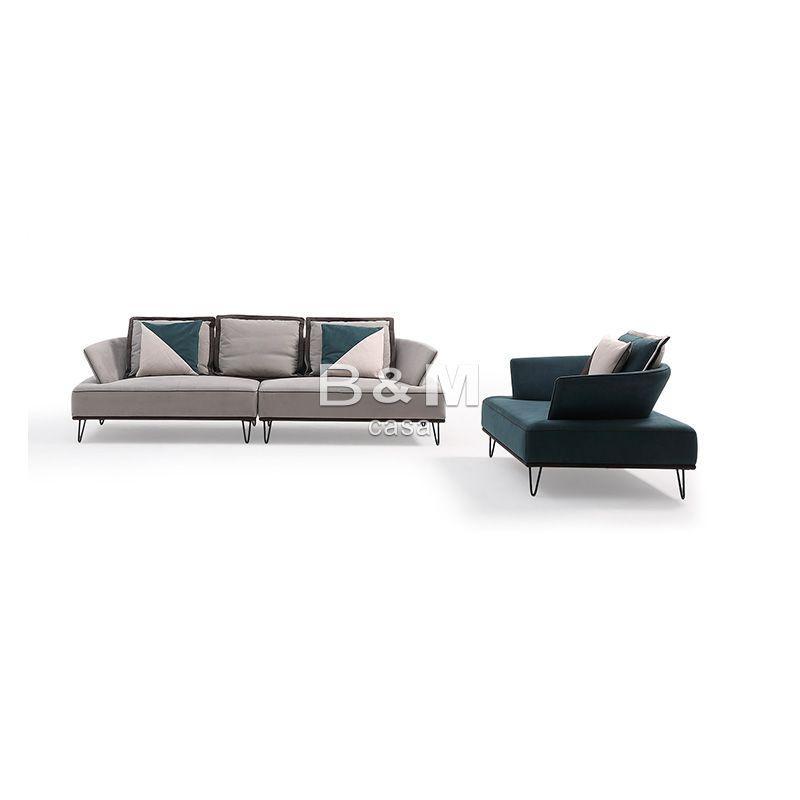 Armrest Fabric Sofa  eco-friendly fabric Sofa   Modern minimalist Fabric Sofa  3