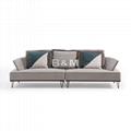Armrest Fabric Sofa  eco-friendly fabric Sofa   Modern minimalist Fabric Sofa  5