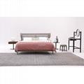 Continental Design Bed   beige upholstered bed    2