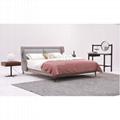 Continental Design Bed   beige upholstered bed    4