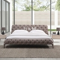 Technical Fabric Bed   Queen size Fabric Bed   mid century modern bed price 3