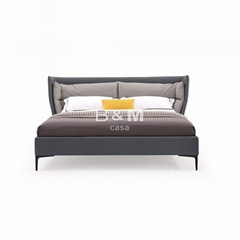 King Upholstered Bed   upholstered bed   kingsize leather beds