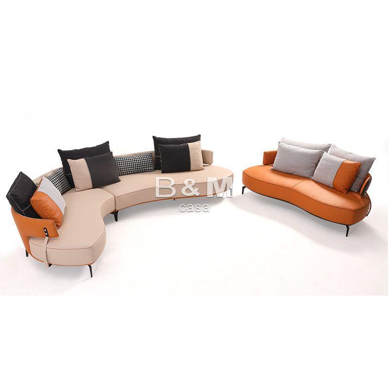 Villa Leather Sofa   high-end villas Fabric Sofa   Home leather Sofa  1