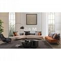 Villa Leather Sofa   high-end villas Fabric Sofa   Home leather Sofa  2