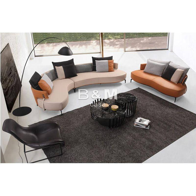 Villa Leather Sofa   high-end villas Fabric Sofa   Home leather Sofa  4