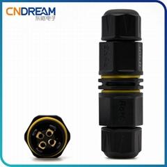 厂家直销 L20防水接头 电线防水连接器 ip68免焊接头 线缆接头