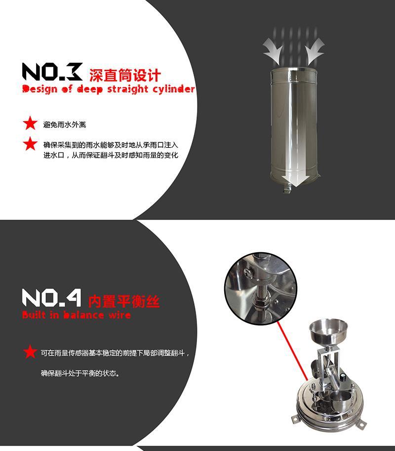 北海灵犀全金属雨量传感器防生锈 2