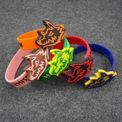 專業生產   硅膠手環  特殊形狀手腕帶