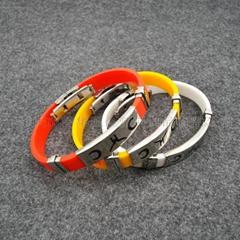 帶金屬的硅膠手環