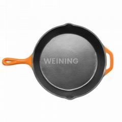 Cast Iron Enamel Frying Pan