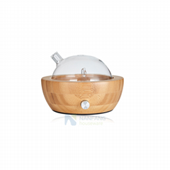 Essential oil diffuser nebulizer, waterless, bamboo base