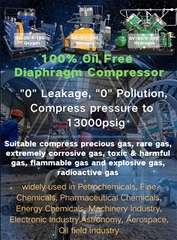 4L-20/9 Industrial coal gas Compressor oil free Reciprocating compressor 400 bar