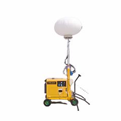 Inflatable balloon hand push metal halide mobile portable LED light tower