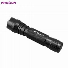 夜光nitesun紫光綠光LED 戶外戰朮強光攻擊頭小手電筒D38 定製