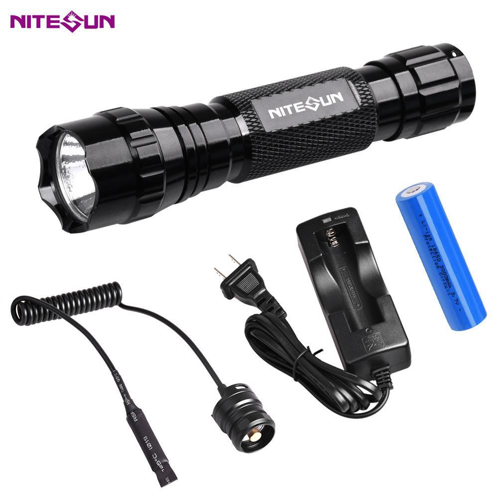 夜光nitesun紫光綠光LED 戶外戰朮強光攻擊頭小手電筒D38 定製 5