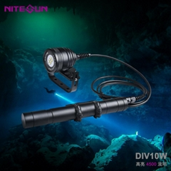 夜光nitesun戶外DIV10分體式強光勘探照明手電筒技術潛水大深度150米