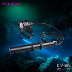 夜光nitesun户外DIV10分体式强光勘探照明手电筒技术潜水大深度150米