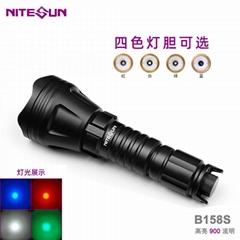 夜光nitesun户外强光手电变焦多功能远射战术白光灯 led手电筒