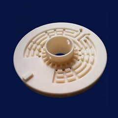 Industrial Machining Alumina Ceramic Flange Ceramic Insulator Polishing Surface