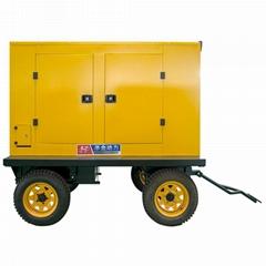 华全100千瓦里卡多移动静音柴油发电机组水冷柴油发电机