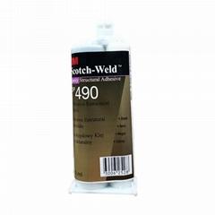 3M DP490環氧樹脂強力AB膠 黑色耐高溫金屬木材結構膠