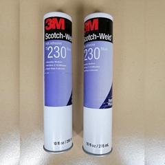 3M TS230白色热固型聚氨酯胶粘剂 高强度粘接塑料玻璃胶水