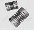 鋁合金45鋼不鏽鋼夾緊式彈性波紋管聯軸器 5