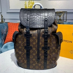 Christopher PM Backpack N93491    crocodile mat Monogram canvas