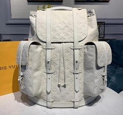 Christopher Backpack GM Bags M53286    White TaurTaurillon leather