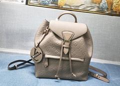 Montsouris Backpack Tourterelle M45410 Monogram Empreinte embossed
