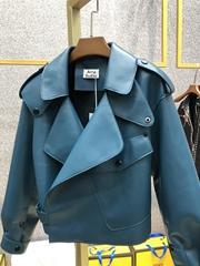 Acne Studios Mock black jacket Cropped biker jacket women leather jacket