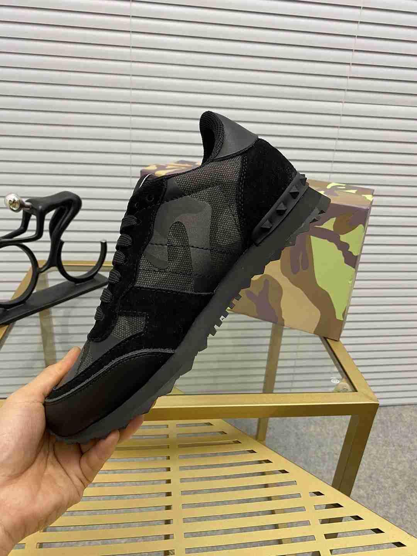 Garavani women Camouflage Noir Sneaker wholesale fake shoes 6