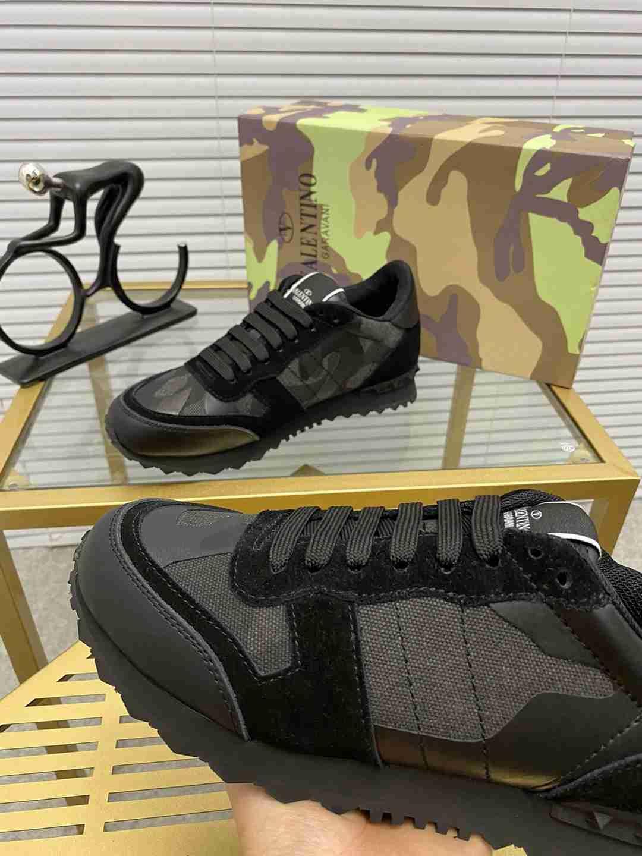 Garavani women Camouflage Noir Sneaker wholesale fake shoes 8