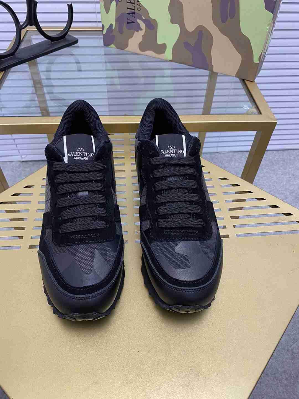 Garavani women Camouflage Noir Sneaker wholesale fake shoes 5