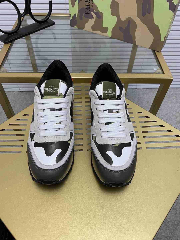 Garavani women Camouflage Noir Sneaker wholesale fake shoes 4