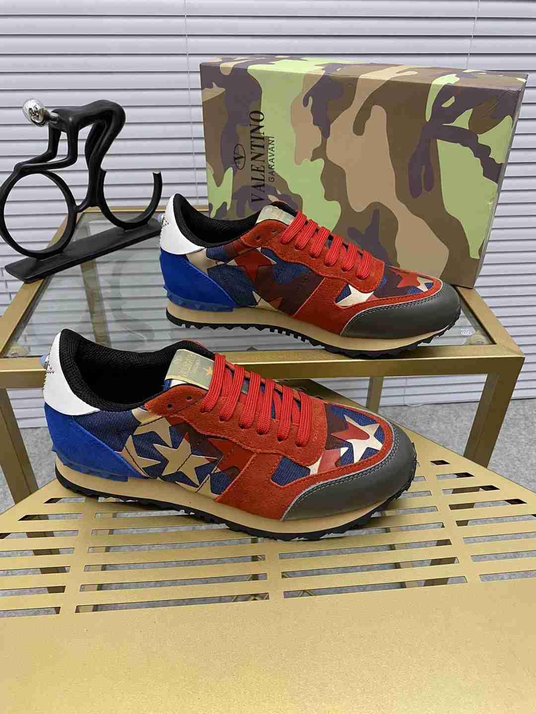 Garavani women Camouflage Noir Sneaker wholesale fake shoes 3