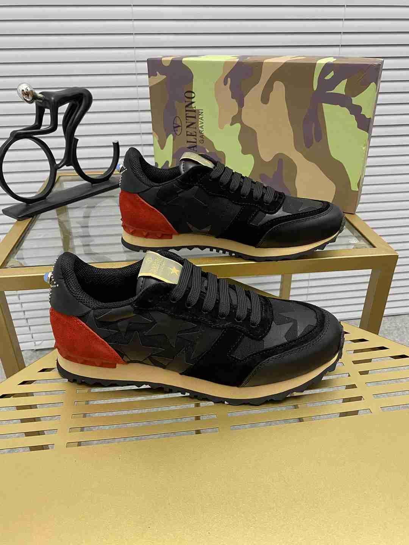 Garavani women Camouflage Noir Sneaker wholesale fake shoes 1