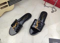 Saint Laurent women Slippers Heels     sandals summer Beach slippers