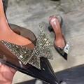 Amina Muaddi Plexi Phoenix Slingback Pumps party sandals women pvc shoes 6