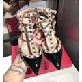 Amina Muaddi Plexi Phoenix Slingback Pumps party sandals women pvc shoes 12